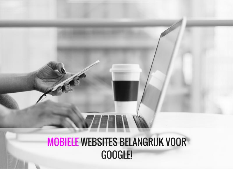 mobiele websites belangrijk voor Google